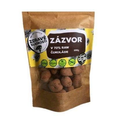 zázvor v raw čokoláde 72 %
