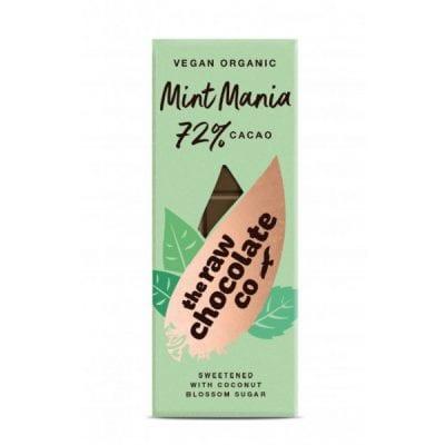 72 % RAW čokoláda mentol